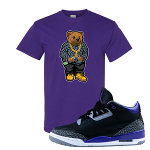 Air Jordan 3 Court Purple T Shirt | Sweater Bear, Purple