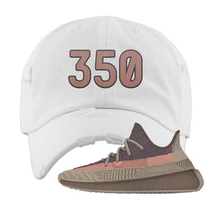 Yeezy 350 v2 Ash Stone Distressed Dad Hat | 350, White