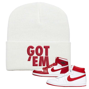 Jordan 1 New Beginnings Pack Sneaker White Beanie | Beanie to match Nike Air Jordan 1 New Beginnings Pack Shoes | Got Em