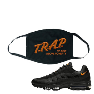 Air Max 95 Ultra Spooky Halloween Face Mask | Trap To Rise Above Poverty, Black