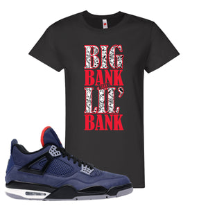 Jordan 4 WNTR Loyal Blue Big Bank Take Lil' Bank Black Sneaker Hook Up Women's T-Shirt