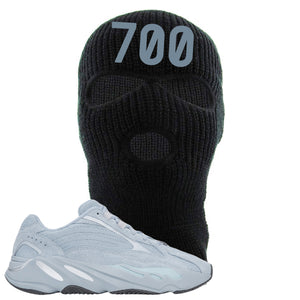 Yeezy Boost 700 V2 Hospital Blue 700 Sneaker Matching Black Ski Mask