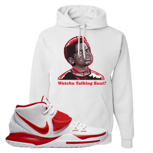 Kyrie 6 White University Red Hoodie | Watchu Talking Bout, White