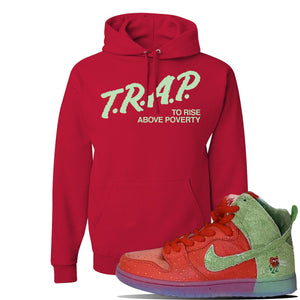 SB Dunk High 'Strawberry Cough' Hoodie | Red, Trap To Rise Above Poverty