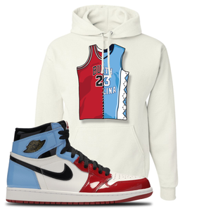 Air Jordan 1 Fearless Jersey Split White Made to Match Pullover Hoodie