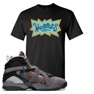 Air Jordan 8 N7 T-Shirt | Black, Hood Rats