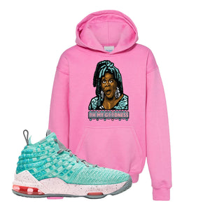 Lebron 17 South Beach Kids Pullover Hoodie | Oh My Goodness, Azalea