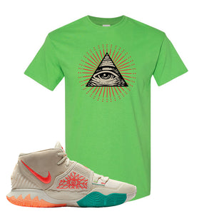 Kyrie 6 N7 T Shirt | Electric Green, All Seeing Eye