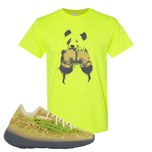 Yeezy Boost 380 Hylte Glow T Shirt | Boxing Panda, Safety Green