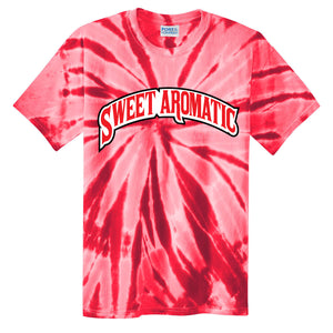 Backwoods Sweet Aromatic Red Tie-Dye T-Shirt