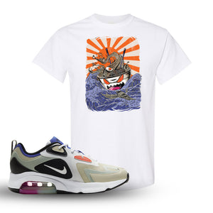 Air Max 200 WMNS Fossil Sneaker White T Shirt | Tees to match Nike Air Max 200 WMNS Fossil Shoes | Ramen Monster
