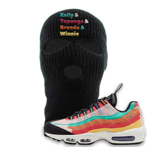 Air Max 95 Black History Month Sneaker Black Ski Mask | Winter Mask to match Air Max 95 Black History Month Shoes | Kelly And Gang