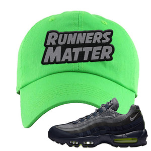 Air Max 95 Midnight Navy / Volt Dad Hat | Neon Green, Runners Matter