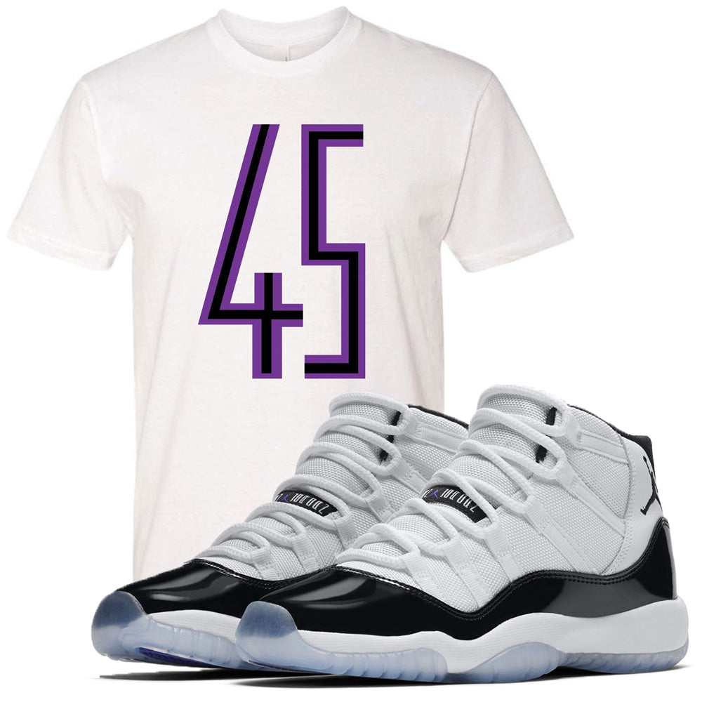 db6381b48041f1 Match your pair of Jordan 11 Concord 45 sneakers with this Concord 11  sneaker matching white