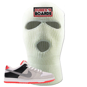 Nike SB Dunk Low Infrared Orange Label Dunks N Boards White Ski Mask To Match Sneakers