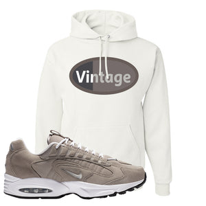 Air Max Triax 96 Grey Suede Hoodie | Vintage Oval, White