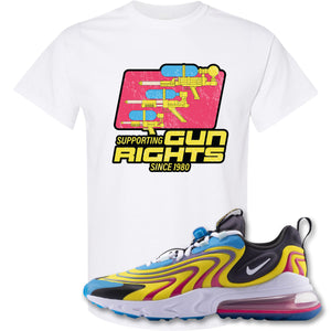 Water Soaker White T-Shirt to match Air Max 270 React ENG Laser Blue Sneakers