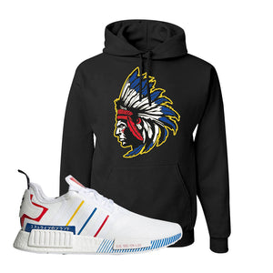NMD R1 Olympic Pack Hoodie | Black, Indian Chief