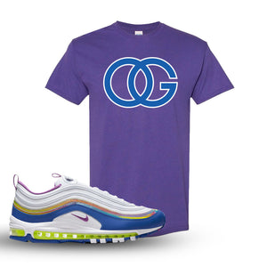 Air Max 97 'Easter' Sneaker Lilac T Shirt | Tees to match Nike Air Max 97 'Easter'Shoes | OG