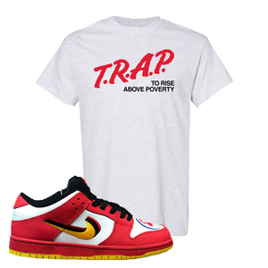 Nike Dunk Low Vietnam 25th Anniversary T-Shirt | Trap To Rise Above Poverty, Ash