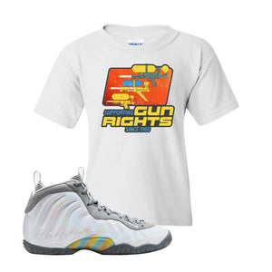 Lil Posite One Rainbow Pixel Kids T Shirt | White, Water Soaker