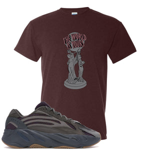 Yeezy Boost 700 Geode Sneaker Hook Up The World Is Yours Russet T-Shirt