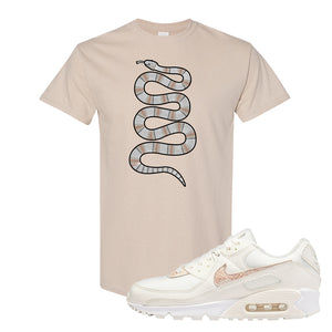Air Max 90 Beige Snakeskin T Shirt | Coiled Snake, Sand