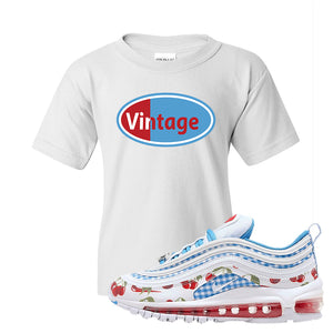 Air Max 97 GS SE Cherry Kids T-Shirt | Vintage Oval, White