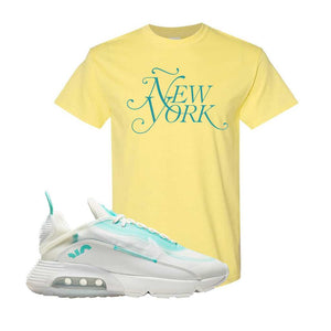 Air Max 2090 Pristine Green T Shirt | Cornsilk, New York