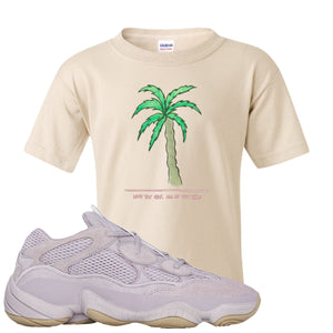 Yeezy 500 Soft Vision Love Thyself Palm Sand Sneaker Hook Up Kid's T-Shirt