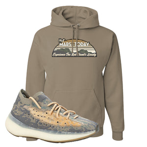 Yeezy Boost 380 Mist Sneaker Khaki Pullover Hoodie | Winter Mask to match Adidas Yeezy Boost 380 Mist Shoes | Visit Mars