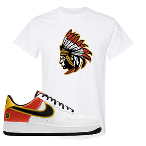 Air Force 1 Low Roswell Rayguns T Shirt | Indian Chief, White