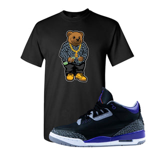Air Jordan 3 Court Purple T Shirt | Sweater Bear, Black