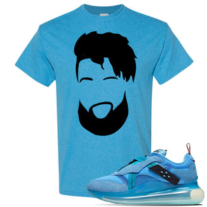 Air Max 720 OBJ Slip Light Blue T Shirt | Heather Sapphire, OBJ Head