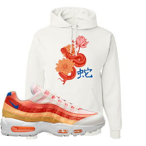 Air Max 95 Orange Snakeskin Hoodie | Snake Lotus, White