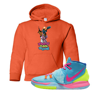 Kyrie 6 Pool Kids Pullover Hoodie | Dont Hate The Player, Orange