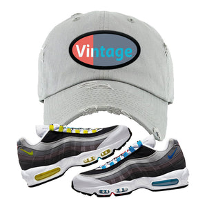 Air Max 95 QS Greedy Distressed Dad Hat | Light Gray, Vintage Oval