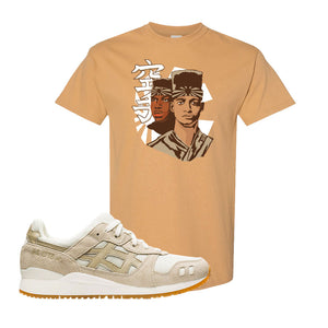 GEL-Lyte III 'Monozukuri Pack' T Shirt | Old Gold, Kid N Karate