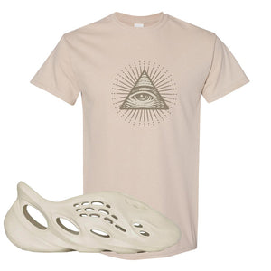 Yeezy Foam Runner Sand T Shirt | All Seeing Eye, Sand