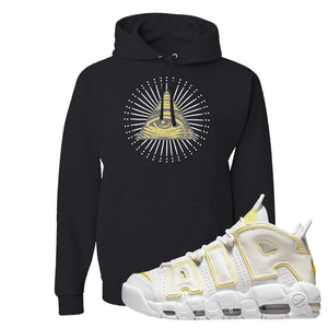 Air More Uptempo Light Citron Hoodie | All Seeing Eye, Black