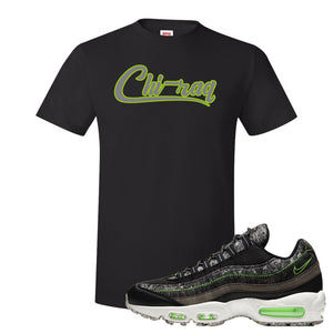 Air Max 95 Black / Electric Green T Shirt | Chiraq, Black