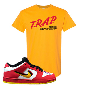 Nike Dunk Low Vietnam 25th Anniversary T-Shirt | Trap To Rise Above Poverty, Gold