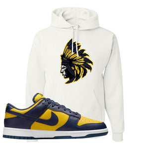 SB Dunk Low Michigan Hoodie | Indian Chief, White