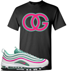 Air Max 97 'South Beach' Sneaker Black T Shirt | Tees to match Nike Air Max 97 'South Beach' Shoes | OG