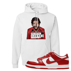 SB Dunk Low St. Johns Hoodie | Escobar Illustration, White