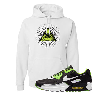 Air Max 90 Exeter Edition Black Hoodie | All Seeing Eye, White