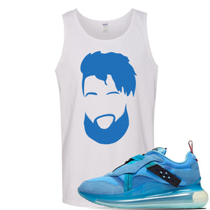 Air Max 720 OBJ Slip Light Blue Tank Top | White, OBJ Head