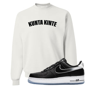 Colin Kaepernick X Air Force 1 Low Kunta Kinte White Sneaker Hook Up Crewneck Sweatshirt