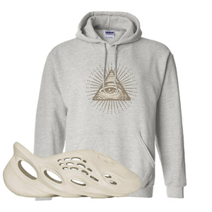 Yeezy Foam Runner Sand Hoodie | All Seeing Eye, Ash
