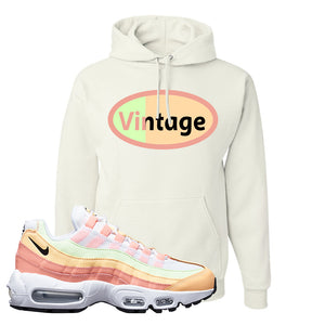 Air Max 95 WMNS Melon Tint Hoodie | White, Vintage Oval